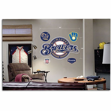 Milwaukee Brewers Logo Fathead Wall Graphic