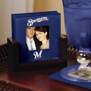 Milwaukee Brewers Photo Coaster Set