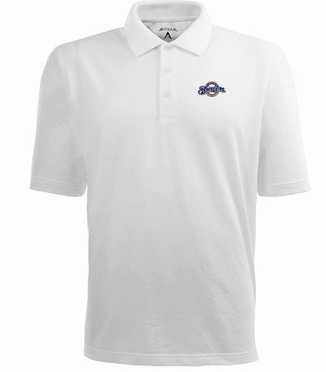 Milwaukee Brewers Mens Pique Xtra Lite Polo Shirt (Color: White)