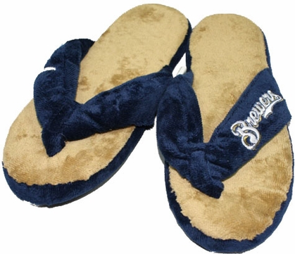 Milwaukee Brewers Plush Thong Slippers
