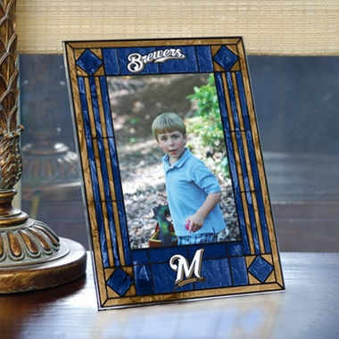 Milwaukee Brewers Portrait Art Glass Picture Frame