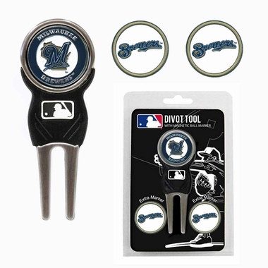 Milwaukee Brewers Repair Tool and Ball Marker Gift Set