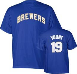 Milwaukee Brewers Robin Yount Name and Number T-Shirt - X-Large