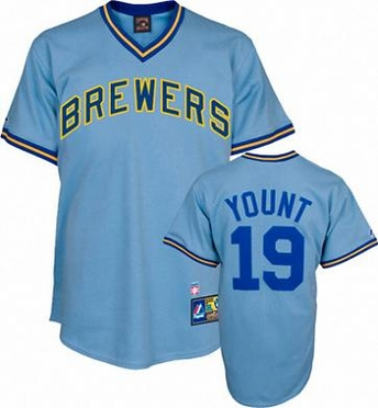 Milwaukee Brewers Robin Yount Replica Throwback Jersey