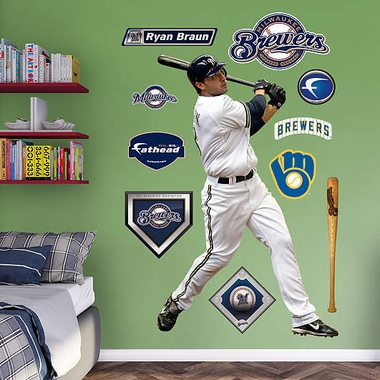 Milwaukee Brewers Ryan Braun Fathead Wall Graphic