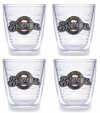 Milwaukee Brewers Set of FOUR 12 oz. Tervis Tumblers