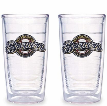 Milwaukee Brewers Set of TWO 16 oz. Tervis Tumblers