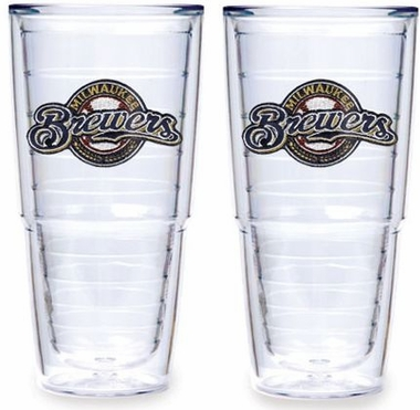 "Milwaukee Brewers Set of TWO 24 oz. ""Big T"" Tervis Tumblers"