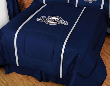 Milwaukee Brewers SIDELINES Jersey Material Comforter