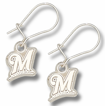 Milwaukee Brewers Sterling Silver Post or Dangle Earrings