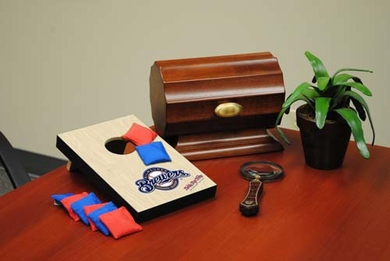 Milwaukee Brewers Table Top Toss (Wood Design)