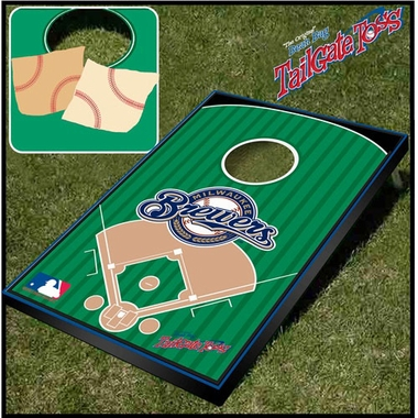 Milwaukee Brewers Tailgate Toss Cornhole Beanbag Game
