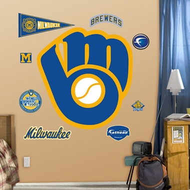 Milwaukee Brewers Throwback Logo Fathead Wall Graphic