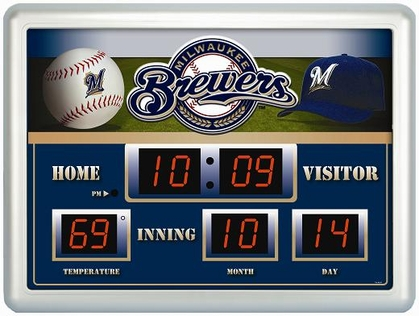 Milwaukee Brewers Time / Date / Temp. Scoreboard