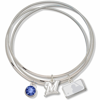 Milwaukee Brewers Triple Bangle Bracelet