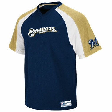 Milwaukee Brewers V-Neck Crusader Jersey (Team Color)