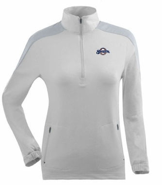 Milwaukee Brewers Womens Succeed 1/4 Zip Performance Pullover (Color: White)