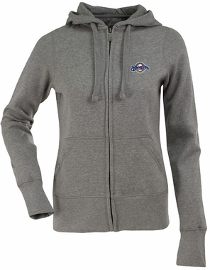 Milwaukee Brewers Womens Zip Front Hoody Sweatshirt (Color: Gray)