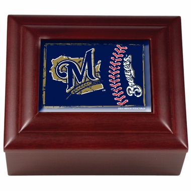 Milwaukee Brewers Wooden Keepsake Box