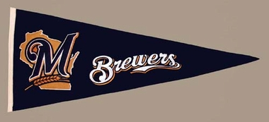 Milwaukee Brewers Wool Pennant