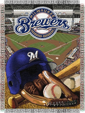 Milwaukee Brewers Woven Tapestry Throw Blanket
