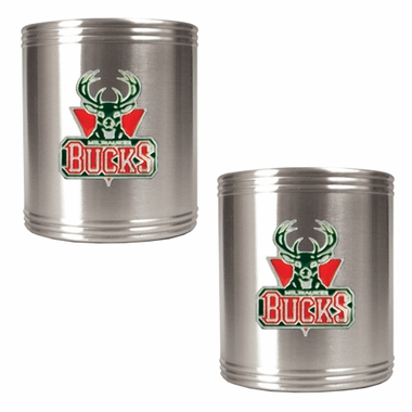 Milwaukee Bucks 2 Can Holder Set