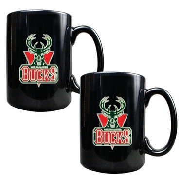 Milwaukee Bucks 2 Piece Coffee Mug Set