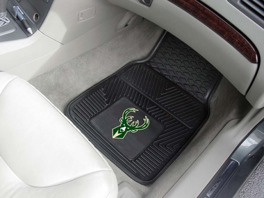 Milwaukee Bucks 2 Piece Heavy Duty Vinyl Car Mats