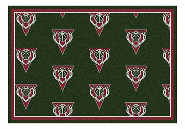 "Milwaukee Bucks 5'4"" x 7'8"" Premium Pattern Rug"