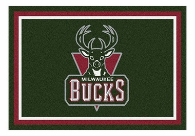 "Milwaukee Bucks 5'4"" x 7'8"" Premium Spirit Rug"
