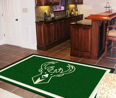 Milwaukee Bucks 5 Foot x 8 Foot Rug