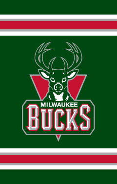 Milwaukee Bucks Applique Banner Flag
