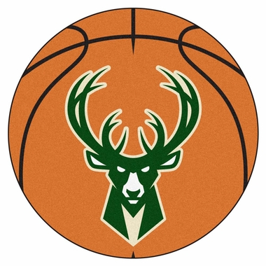 Milwaukee Bucks 27 Inch Basketball Shaped Rug