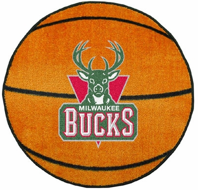 Milwaukee Bucks Basketball Shaped Rug