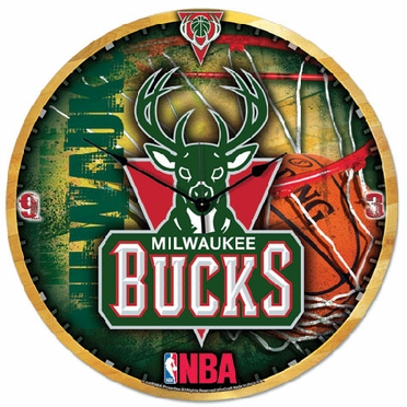 Milwaukee Bucks Big 18 Inch Hi Definition Clock