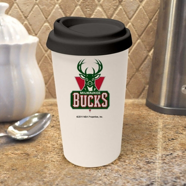 Milwaukee Bucks Ceramic Travel Cup