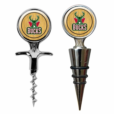 Milwaukee Bucks Corkscrew and Stopper Gift Set