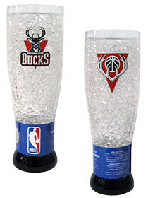 Milwaukee Bucks Crystal Pilsner Glass