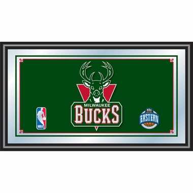 Milwaukee Bucks Framed Logo Bar Mirror