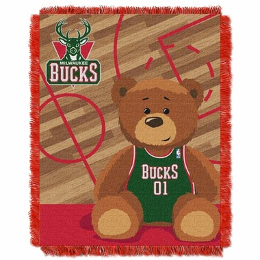 Milwaukee Bucks Jacquard BABY Throw Blanket