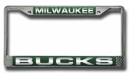 Milwaukee Bucks Laser Etched Chrome License Plate Frame