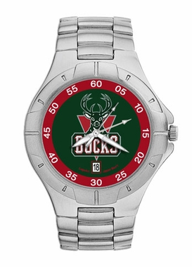 Milwaukee Bucks Pro II Men's Stainless Steel Watch