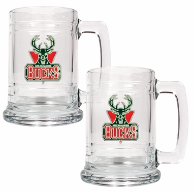 Milwaukee Bucks Set of 2 15 oz. Tankards