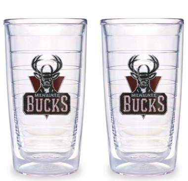 Milwaukee Bucks Set of TWO 16 oz. Tervis Tumblers