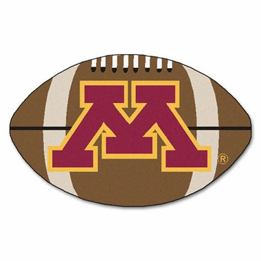 Minnesota Football Shaped Rug