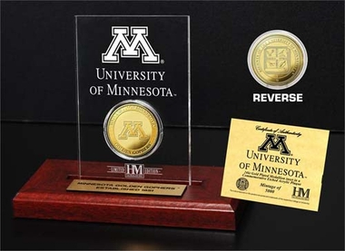 Minnesota Golden Gophers Minnesota Golden Gophers�24KT Gold Coin Etched Acrylic