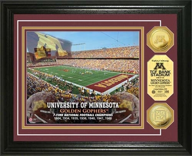 Minnesota Golden Gophers University of Minnesota Stadium Gold Coin Photo Mint