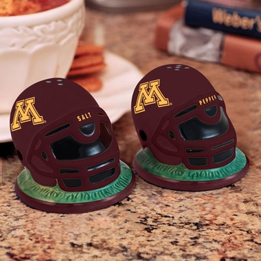 Minnesota Helmet Ceramic Salt and Pepper Shakers