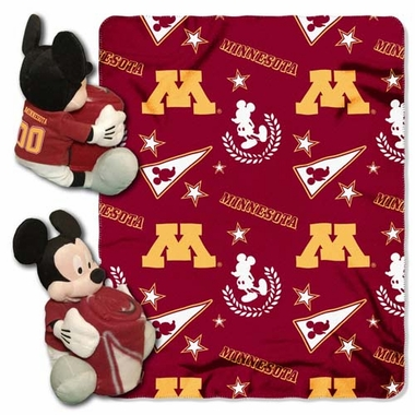 Minnesota Mickey Hugger with Small Fleece Throw
