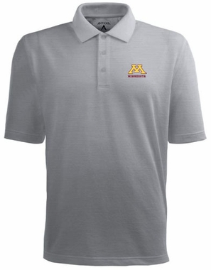 Minnesota Mens Pique Xtra Lite Polo Shirt (Color: Gray)
